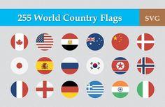255 Flat & Vector Circular Flag by CustomIconDesign on @creativemarket