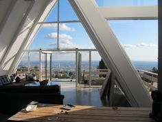 My Colleague Tim's Home above Sunset Plaza.  Classic A-Frame house with tons of light.