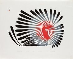 Synchronized Blue Birds by Kenojuak Ashevak, Inuit artist Purple Bird, Inuit Art, Indigenous Art, Native American Art, Native Art, Aboriginal Art, Bird Art, Female Art, Folk Art