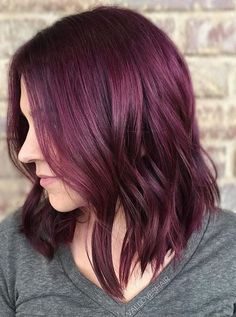 Violet with a subtle hue of red. Color by @valloveshair  Filed under: Hair Color, Hair Styles, Hair Stylists Tagged: beauty, hair, hairstyles, RED HAIR, style, trends, VIOLET HAIR, VIOLET RED HAIR