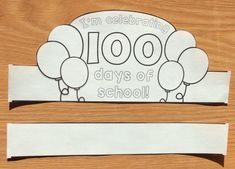 Day of School Ideas & Treats - Lessons for Little Ones by Tina O'Block 100th Day Of School Crafts, 100 Day Of School Project, 100 Days Of School, School Projects, Project 22, School Stuff, Elementary Teacher, Elementary Schools, 100s Day