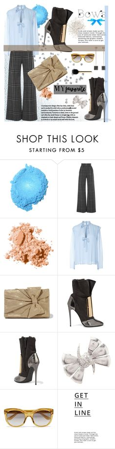 """Put a Bow on It!"" by joliedy ❤ liked on Polyvore featuring Vilshenko, Bobbi Brown Cosmetics, Giambattista Valli, RED Valentino, Giuseppe Zanotti, Stephen Webster, Yves Saint Laurent, Lipsy, Balenciaga and Valenz"