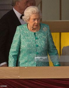 Queen Elizabeth II At The Queens 90th Birthday Celebration Royal Windsor Horse Show On