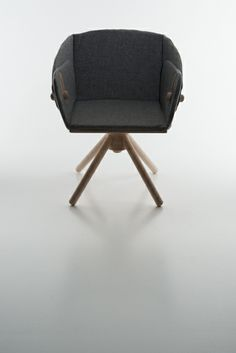 """STOCKHOLM"" BY KAREN NAALSUND A dining and lounge chair in one! With simple grips you can move both chair hight and back angle. Take A Seat, Stockholm, Brand Identity, Furniture Design, Chairs, Lounge, Construction, Dining, Simple"