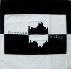 Downton Abbey, paper pieced and embroidered by Alida / TweLoQ! Free pattern from fandominstitches.com.