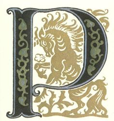 グリム童話:勇ましいちびの仕立て屋 装飾文字 Grimm's Fairy Tales:Valiant Little Tailor / Letters