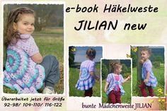 DIY Häkelweste JILIAN  e-book Häkelanleitung von Leomaxi auf DaWanda.com