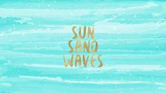 Sun Sand Waves Free Desktop Wallpaper And