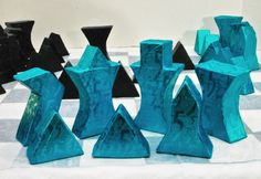 """""""Familiar Facade"""" New Functional Paper Sculpture by Ken O'Toole Chess Pieces, Game Pieces, Modern Chess Set, How To Play Chess, Japanese Water, Expressionist Artists, Chess Sets, Nintendo Switch, Puzzles"""