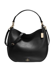 Nomad+Leather+Hobo+Bag,+Black+by+Coach+at+Neiman+Marcus.