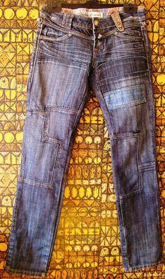 "JEANS PANTALONI DONNA ""FRACOMINA"" DENIM BLU woman frau S 42 28 trousers hosen"