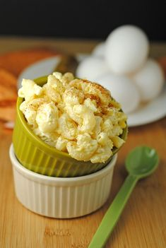 Deviled Egg Macaroni Salad... This was so yummy!  All the yumminess of deviled eggs without the PITA preparation.  We leave out the relish.
