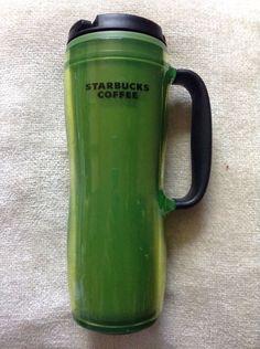 92559e843ce 2008 Barista STARBUCKS Green Coffee Travel Mug With Handle 16oz