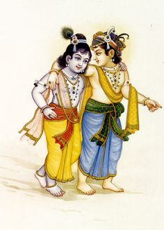 """Krishna and Balarama """"…Hearing is an opportunity to associate with the Lord; to hear His activities is to evolve to the transcendental nature–simply by hearing. Krishna Lila, Cute Krishna, Jai Shree Krishna, Krishna Radha, Yashoda Krishna, Radha Rani, Lord Krishna Images, Krishna Pictures, Krishna Photos"""
