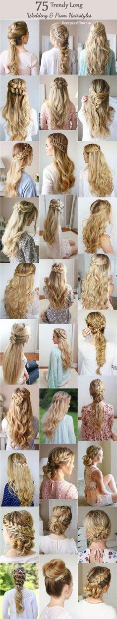 Long Wedding & Prom Hairstyles from Missysueblog / http://www.deerpearlflowers.com/wedding-prom-hairstyles-for-long-hair/ #haircutsforlonghair