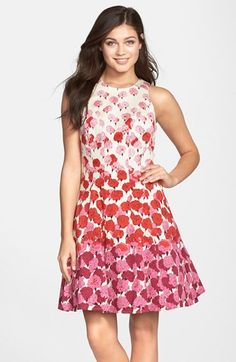 Maggy London Floral Print Fit & Flare Dress (Regular & Petite) available at #Nordstrom