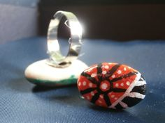Painted rock ring