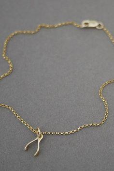 DIY wishbone necklace