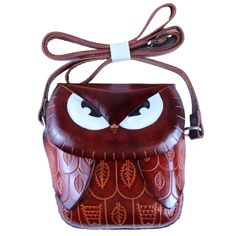 Intense brown owl shoulder bag  See more of his #Anipals friends @ #Amazon http://www.amazon.com/Mr-Brown-Owl-Shoulder-Bag/dp/B00G8I3406/ref=sr_1_2?ie=UTF8&qid=1401302516&sr=8-2&keywords=anipals+owl+gift   $ #brown #leather #shoulderbag #purse