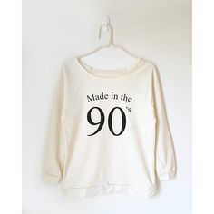 Made in the 90'S Tshirt Birthday Gift Shirt Funny Gift Idea Shirt Teen... ($22) ❤ liked on Polyvore featuring tops, black, sweatshirts, women's clothing, white off shoulder top, off the shoulder shirts, white off the shoulder top, shirts & tops and white top