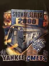"""☀SUBWAY SERIES 2000 NEW YORK YANKEES METS T Shirt Jeter 22"""" X 30"""" ☀NEW☀"""