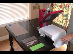 Using Siser Heat Transfer Vinyl and a Heat Press - YouTube