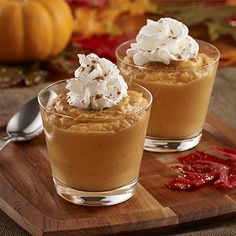 An easy fall dessert recipe tastes like pumpkin pie when vanilla pudding, pumpkin, cream cheese and spices are mixed together and topped...