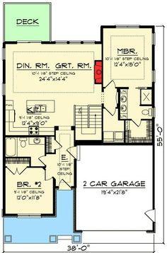 Plan 890005ah 2 Bed Craftsman Bungalow With Open Concept Floor