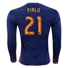 adidas Andrea Pirlo New York City FC Long Sleeve Authentic Away Jersey 2016