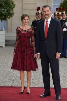 There's a clear difference in Queen Letizia of Spain's style from the moment it was first announced that the TV reporter (then known as Letizia Ortiz) was engaged to Prince Felipe, back in 2003, to today. During her first years as princess of Spain, Letizia kept a conservative look, wearing pantsuits, high necklines, and demure gowns, much like she did during her journalist days.