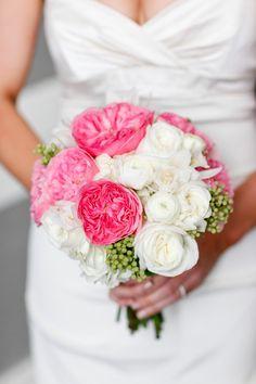 White and pink bouquet. Floral Design By  Fleur De Lis Florist