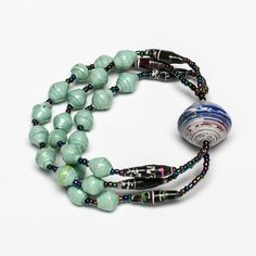Olok Bracelet: made with recycled paper beads