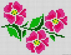 Flowers perler bead pattern