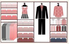 Clothing Merchandising Wall Planogram