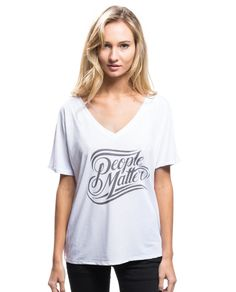"Women's ""People Matter"" Flowy V Neck - For every item purchased Sevenly donates $7 to the featured charity of the week. #SevenlySendsJoy"
