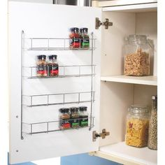 Chrome 4 Tier Spice Rack 50cm - Cabinet & Drawer Features - Kitchen Accessories -Kitchens - Wickes