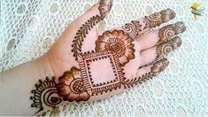 Rajasthani Flower Mehndi Designs For Hands Step By Step. rajhastani mehndi designs are very fa. Simple Arabic Mehndi Designs, Beautiful Henna Designs, Latest Mehndi Designs, Mehndi Designs For Hands, Mehndi Design Photos, Design Mehndi, Rajasthani Mehndi Designs, Mahndi Design, Henna Mehndi