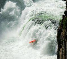 Photo of Thayer Walker on Lower Mesa Falls courtesy Lucas Gilman