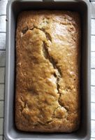 Vegan Banana Bread Recipe - Dairy-Free Vegan Banana Bread Recipe~~Made this with some vegan chocolate chips.  Used Spice House Cake Spice in place of the cinnamon.   I brought it to work today and no one believed it was vegan.