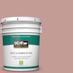BEHR Premium Plus 5-gal. #S170-4 Retro Pink Semi-Gloss Enamel Interior Paint