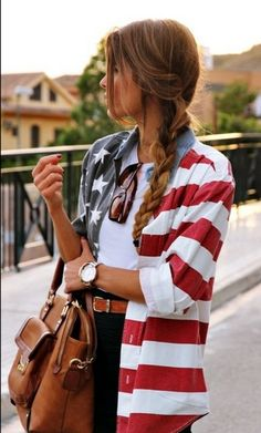 Festive Fourth of July button down