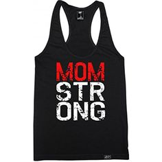 Women's Mom Strong Racerback Tank Top ** Check this awesome product by going to the link at the image. (This is an affiliate link) #Clothing