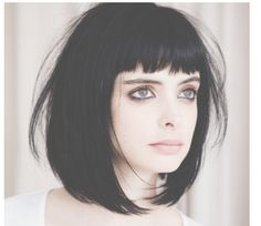short black bob with bangs