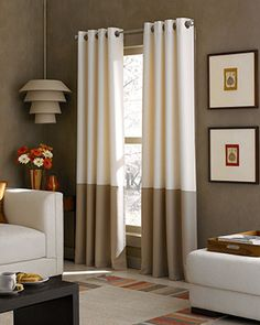 CHF Window Treatments, Kendall 52 X 95 Panel - Curtains & Drapes - for the home - Macy's Color Block Curtains, Light Blocking Curtains, Lined Curtains, Grommet Curtains, Window Curtains, Curtains Living, Bedroom Curtains, White Curtains, Hanging Curtains
