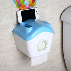 UP Balloons House Shaped Toilet Tissue Box.Available in pink, blue, green and yellow.Measures 163 x 143 x 155mm.