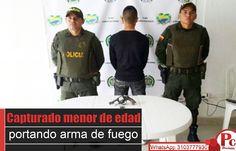 Un menor de 16 años fue sorprendido en el municipio de Caloto portando un revólver cargado y listo para ser usado en algún acto delictivo, según la policía. Leer:  [http://www.proclamadelcauca.com/2014/11/capturado-menor-de-edad-portando-arma-de-fuego.html]