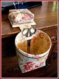 T. in the Burg/Pin cushion thread catcher