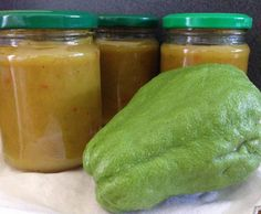 Recipe Choko Pickles by learn to make this recipe easily in your kitchen machine and discover other Thermomix recipes in Sauces, dips & spreads. Sauce Dips, Sauces, Relish Recipes, Pickle Relish, Curry Powder, Vegetable Recipes, Pickles, Cucumber, Thumbnail Image