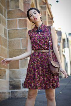 NoraFinds   Vintage Fashion Blogger Sydney   Modern Qipao