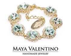 Bridal Bracelet 14K Gold Bracelet Swarovski Bracelet Bridal